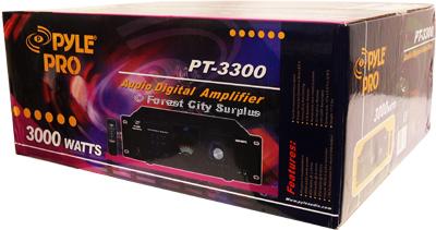 PT3300 - Pyle Pro® 3000 Peak Watt Professional Digital Power Amplifiers