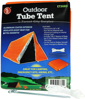 Insulated Emergency / Backpacking Tube Tents