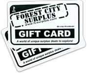25 Dollar Forest City Surplus Gift Card